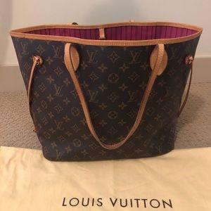Louis Vuitton Neverfull MM Pivoine Monogram AUTH